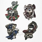 Masque de Venise - 4 Magnets Etain Argenté