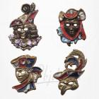 Masque de Venise - 4 Magnets Etain Doré