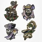 Masque de Venise - 4 Magnets Etain