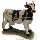 Boîte à secrets Vache - Métal émaillé avec strass