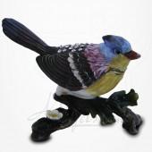 Boîte à secrets Oiseau sur branche - Métal émaillé avec Strass