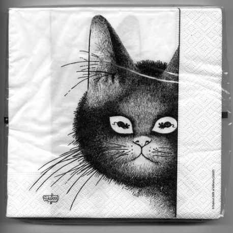 Serviettes Yeux doux - Collection Chats Dubout