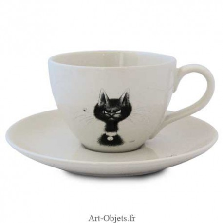 Tasse Cappuccino La Mouche - Collection Chats Dubout
