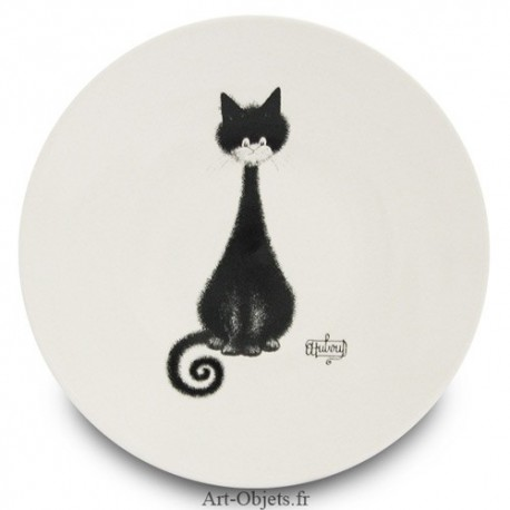 Assiette Dessert - Spirale - Collection Chats Dubout