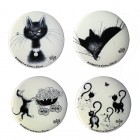 Quatre Magnets décapsuleurs - Collection Chats dubout