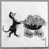 Serviettes Le Landau - Collection Chats Dubout