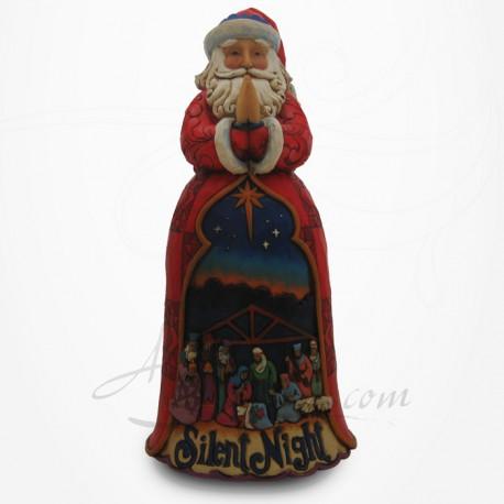 Noël - Père Noël décoré de la Crèche