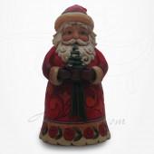 Noël - Père Noël tenant un petit sapin