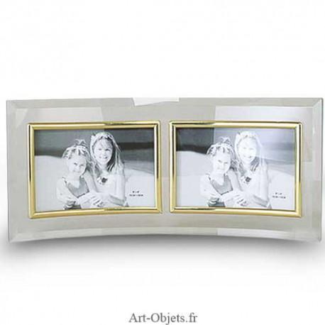 cadre photo verre double 10x15 horizontal art objets. Black Bedroom Furniture Sets. Home Design Ideas