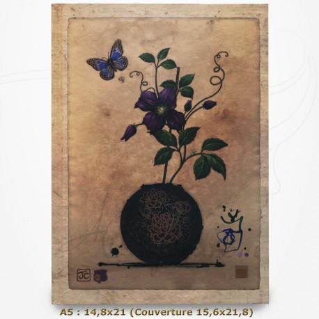 Carnet - BUG ART - Pot de Fleur et Papillon 14,8x21,5
