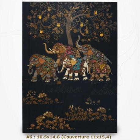Carnet - BUG ART - Eléphants 10,5x14,8