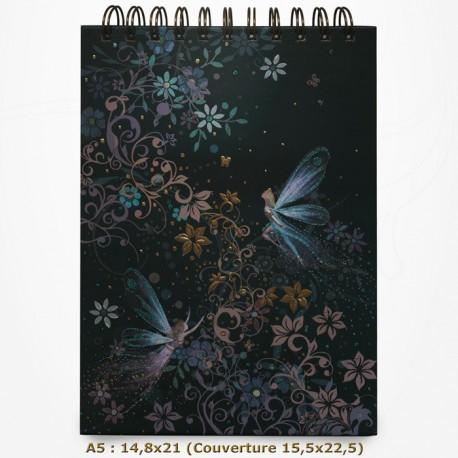 Carnet à dessin - BUG ART - Fées Libellules 14,8x21,5