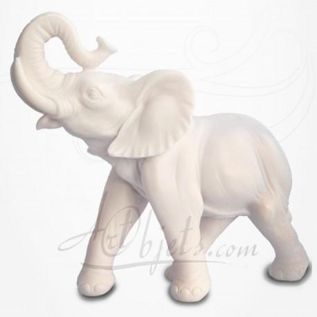 Eléphant Trompe levée - Albâtre