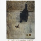 Carnet - BUG ART - Chat regardant un papillon 10,5x14,8