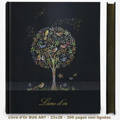 Livre d'Or - BUG ART - Arbres aux oiseaux 23x28
