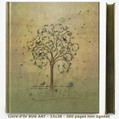 Livre d'Or - BUG ART - Oiseaux dans l'arbre 23x28