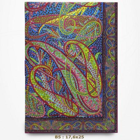 Carnet Liberty - Swirling Paisley - B5