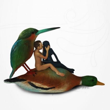 Amoureux sur un Canard de Jérôme Bosch