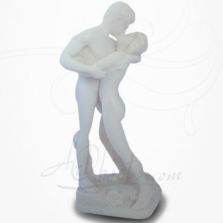 Statue Couple Nu - L'Etreinte