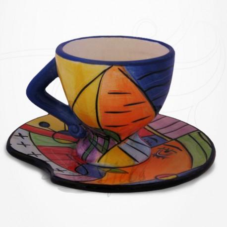 Tasse à café expresso et soucoupe - Collection Muzeum