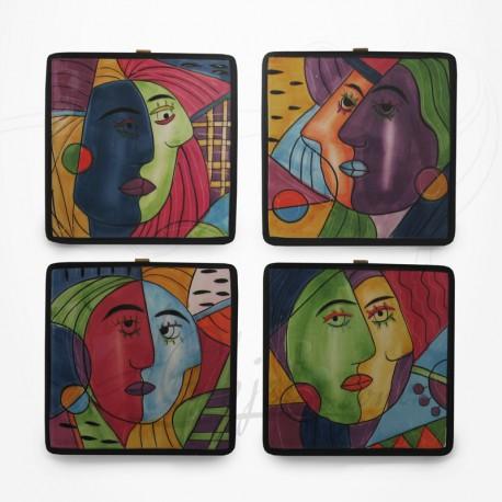 Ensemble de 4 Dessous de Plats - Collection Muzeum