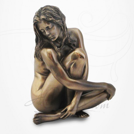 Body Talk - Femme nue assise, tête penchée