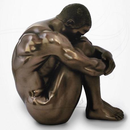 Body Talk - Homme nu Assis enroulé