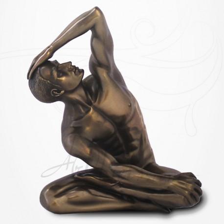 Body Talk - Homme nu Assis Yoga