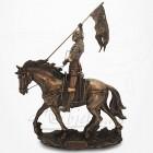 Figurine Jeanne d'Arc à cheval
