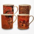 4 Mugs assortis Gustav Klimt - Collection Artistes