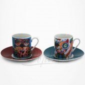 2 Tasses Expresso Chat et Chouette- Collection Design Allen