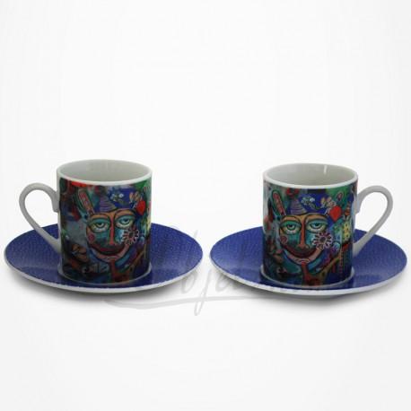 2 Tasses Expresso Fête- Collection Design Allen