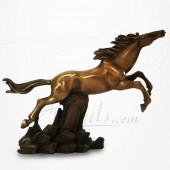 Cheval Bronze Fougueux