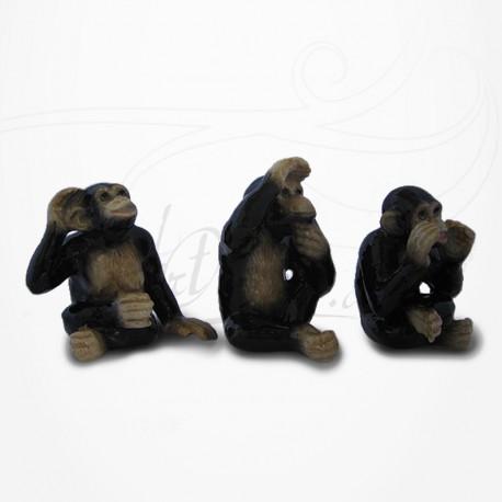 3 Singes de la sagesse - Porcelaine