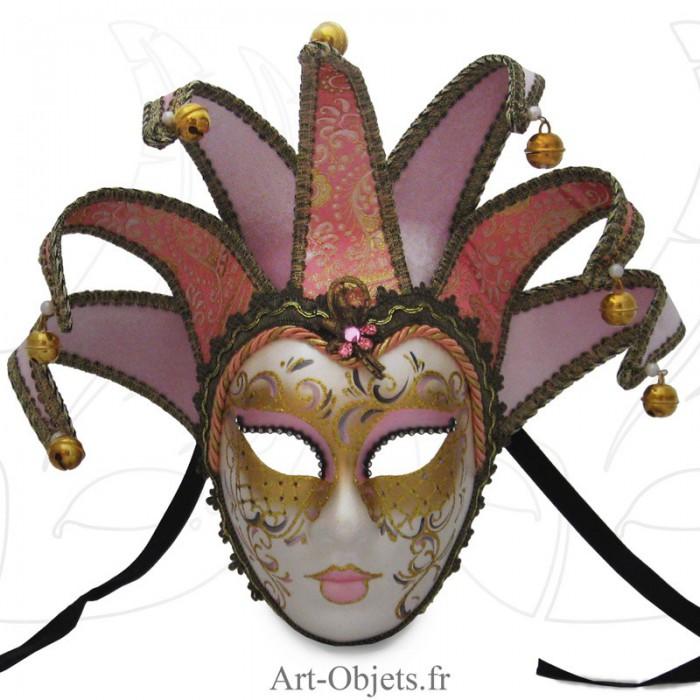 masque de venise visage masque venise joker anna 7 pointes roses art objets. Black Bedroom Furniture Sets. Home Design Ideas