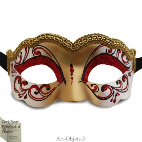 Masque de Venise - Civette Iris Princesse  Rouge - Masque loup