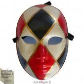 Masque de Venise - Visage femme aux losanges