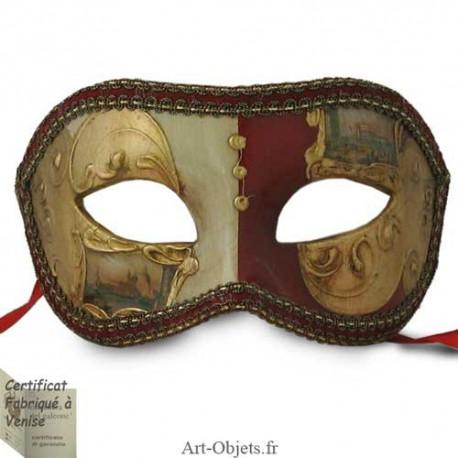 Masque de Venise - Civette décorée Sérénissime - Masque loup