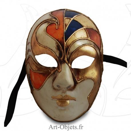 Masque de Venise - Visage Vitrail