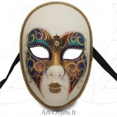 Masque de Venise - Visage décoré papillon et doré.