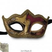 Masque de Venise - Civette à pointes décorée - Masque Loup
