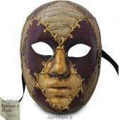 Masque de Venise - Visage musique et rouge