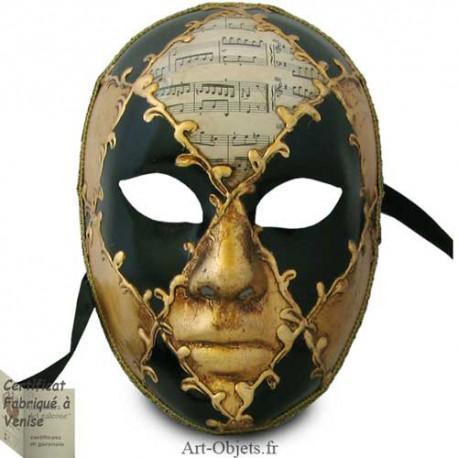 Masque de Venise - Visage musique et noir
