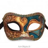 Masque de Venise - Civette décorée musique - Masque Loup