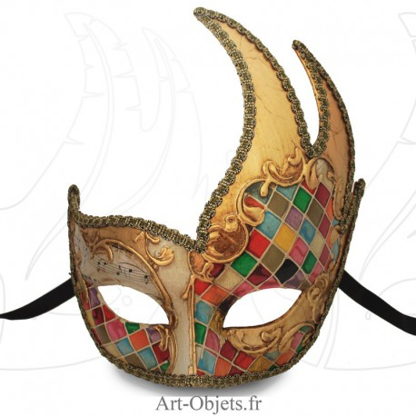 Masque de Venise - Civette Cygne Mosaïque - Masque Loup