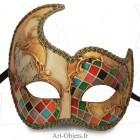 Masque de Venise - Civette Rondine Mosaïque - Masque Loup