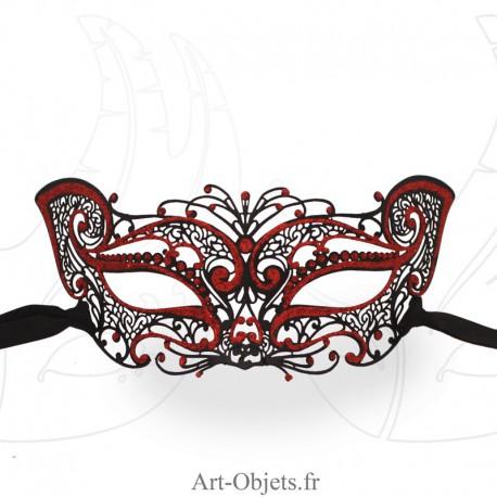 Masque Loup de Venise - Civette Dentelle Métallique - Papillon