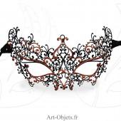 Masque Loup de Venise - Civette Dentelle Métallique