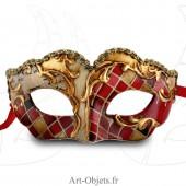 Masque de Venise - Civette Mosaique Enfant Rouge - Masque loup