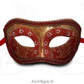 Masque de Venise - Civette Luxe Rouge - Masque Loup